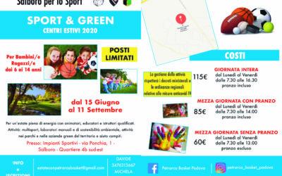 Sport & Green, ecco i centri estivi del Petrarca Dal 15 giugno all'11 settembre, Salboro per lo Sport