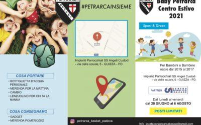 Estate con Petrarca Basket Baby Petrarca Centro Estivo 2021